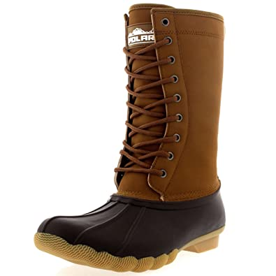 Amazon.com | Womens Tall Winter Fur Lined Deep Tread Rubber Sole ...