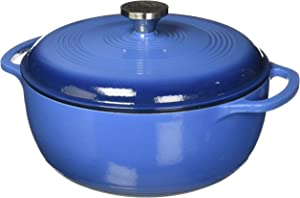 Lodge Dutch Oven 6 Qt. Cast Iron Blue