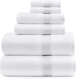 Standard Textile Lynova Towels (Set of 6) The Real Luxury Hotel Towel, 100% Cotton, 2 Bath Towels, 2 Hand Towels, 2 Wash Cloths