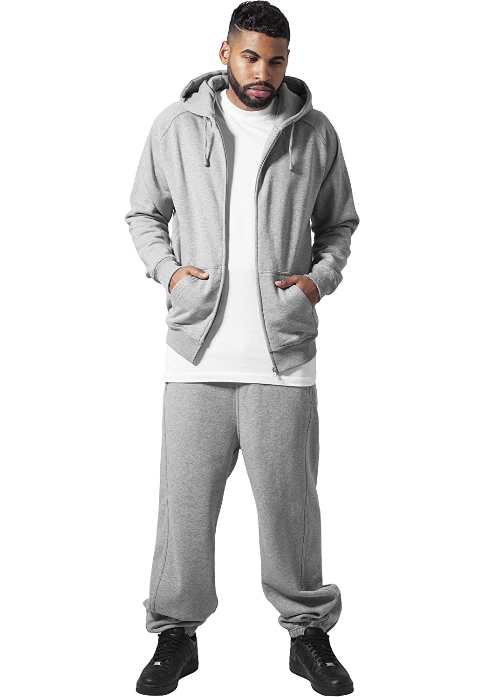Urban Classics Jogginganzug Suit Sweatsuit Trainingsanzug blanko Blank schwarz grau dunkelgrau Charcoal S bis 5XL Farben M/änner Herren Sportanzug Fitness Tanzanzug Dance