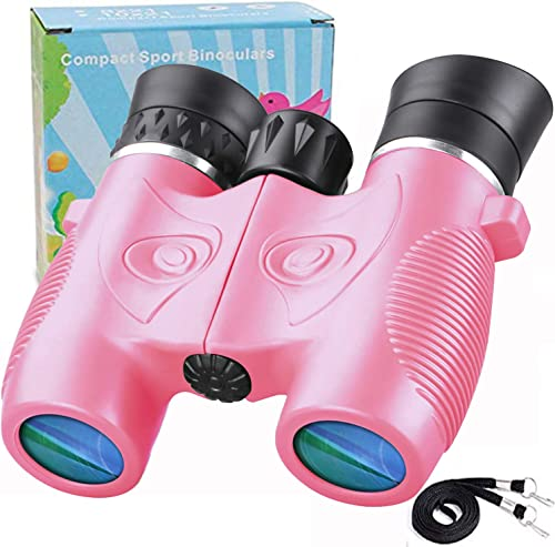 Binoculars for Kids 8×21 HD Vision Optical Shock Proof Kids Binoculars Compact Resolution Real Optics Binoculars Best Gifts for Boys Girls Children Bird Watching Learning Traveling Hunting Hiking