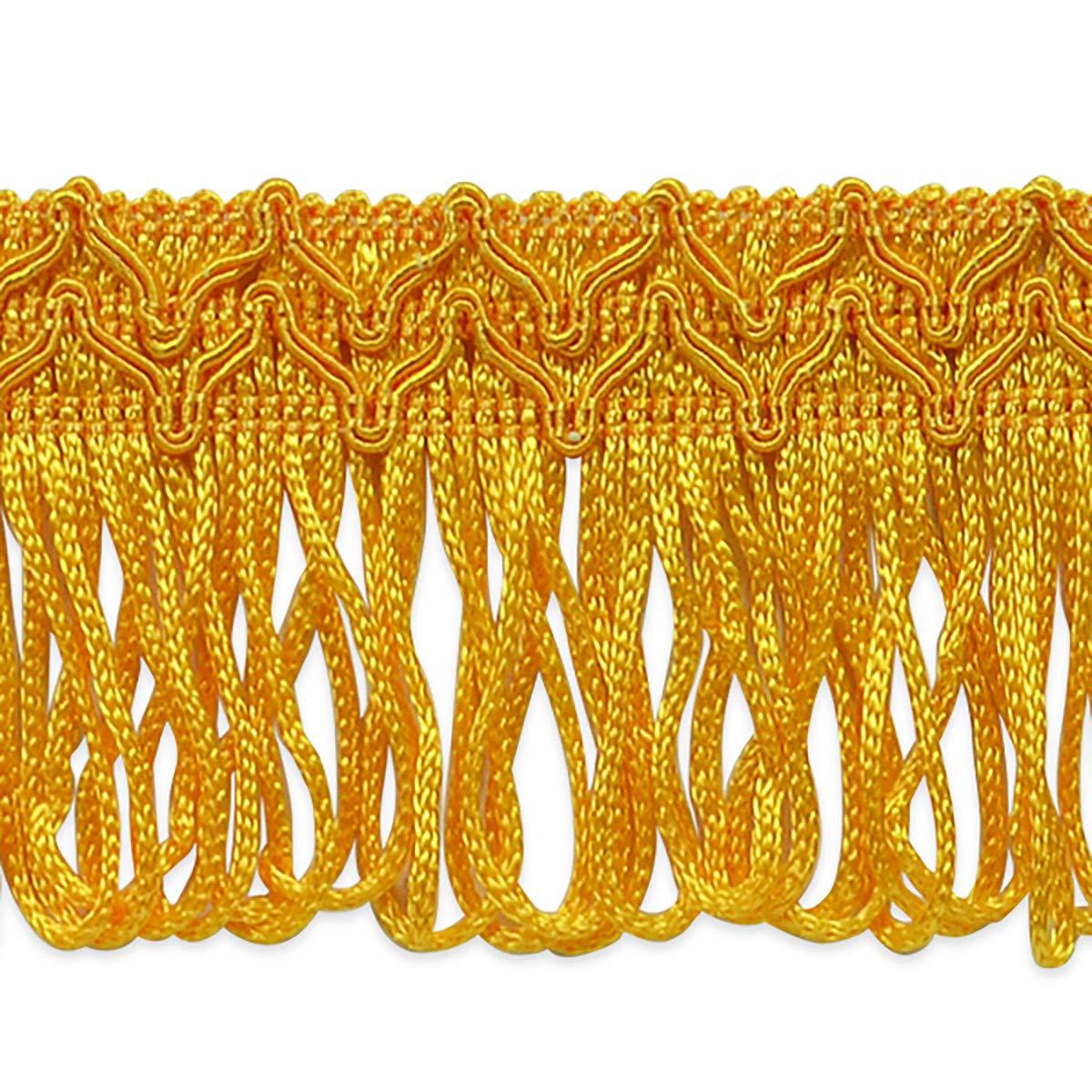 Sharlene 2in Loop Chainette Fringe Trim Gold (Precut 20 Yard) by Expo International Inc.