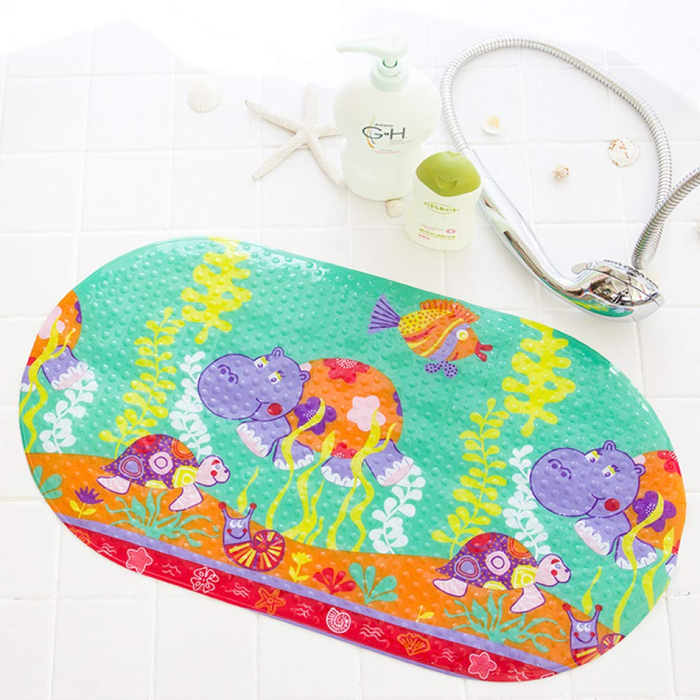 PLLP Bathroom Mat, Bathroom Shower Mat, Bathtub for Children Cartoon Bath Mat, with Suction Pad Mat,A,6938
