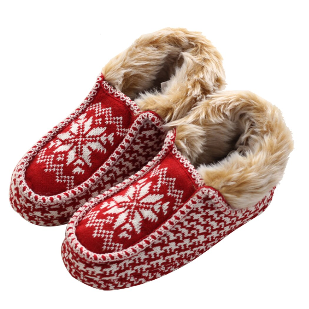 Aniwon Womens Slippers, Christmas Slippers Snowflake Printed Warm Winter Sandals Cotton Slippers for Women