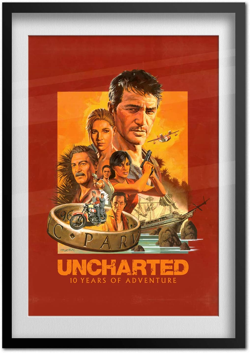 Amazon Com Printing Pira Uncharted 4 Poster 10th Year