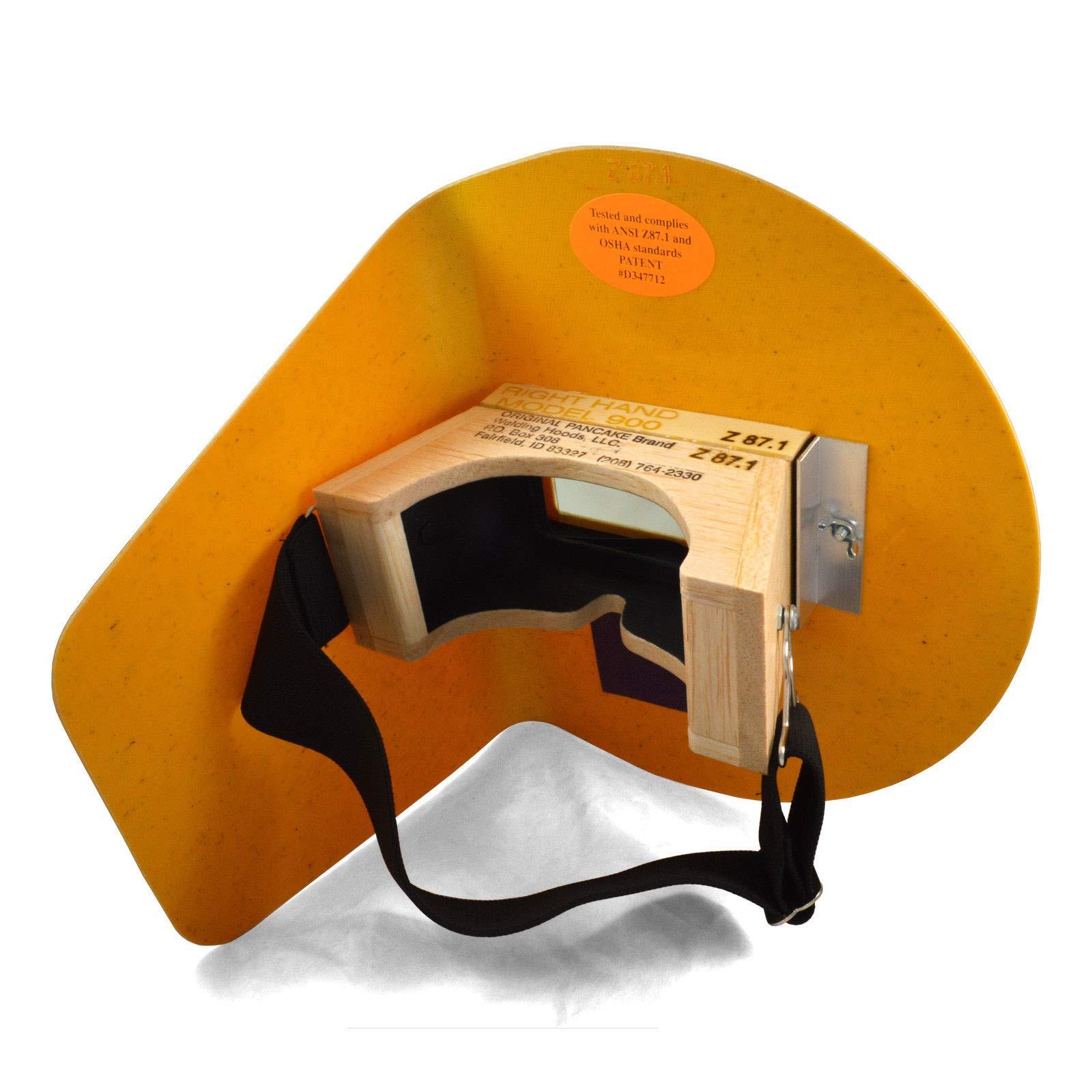 The Original Pancake Welding Hood Helmet w/Strap - Right Handed by The Original (Image #2)