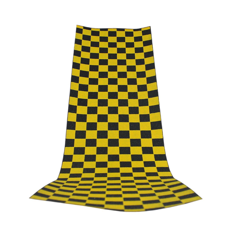 Yellow Checkers Black Diamond Sheet of Grip Tape