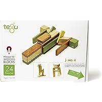 Tegu Magnetic Wooden Block Set, Jungle, 24 Piece