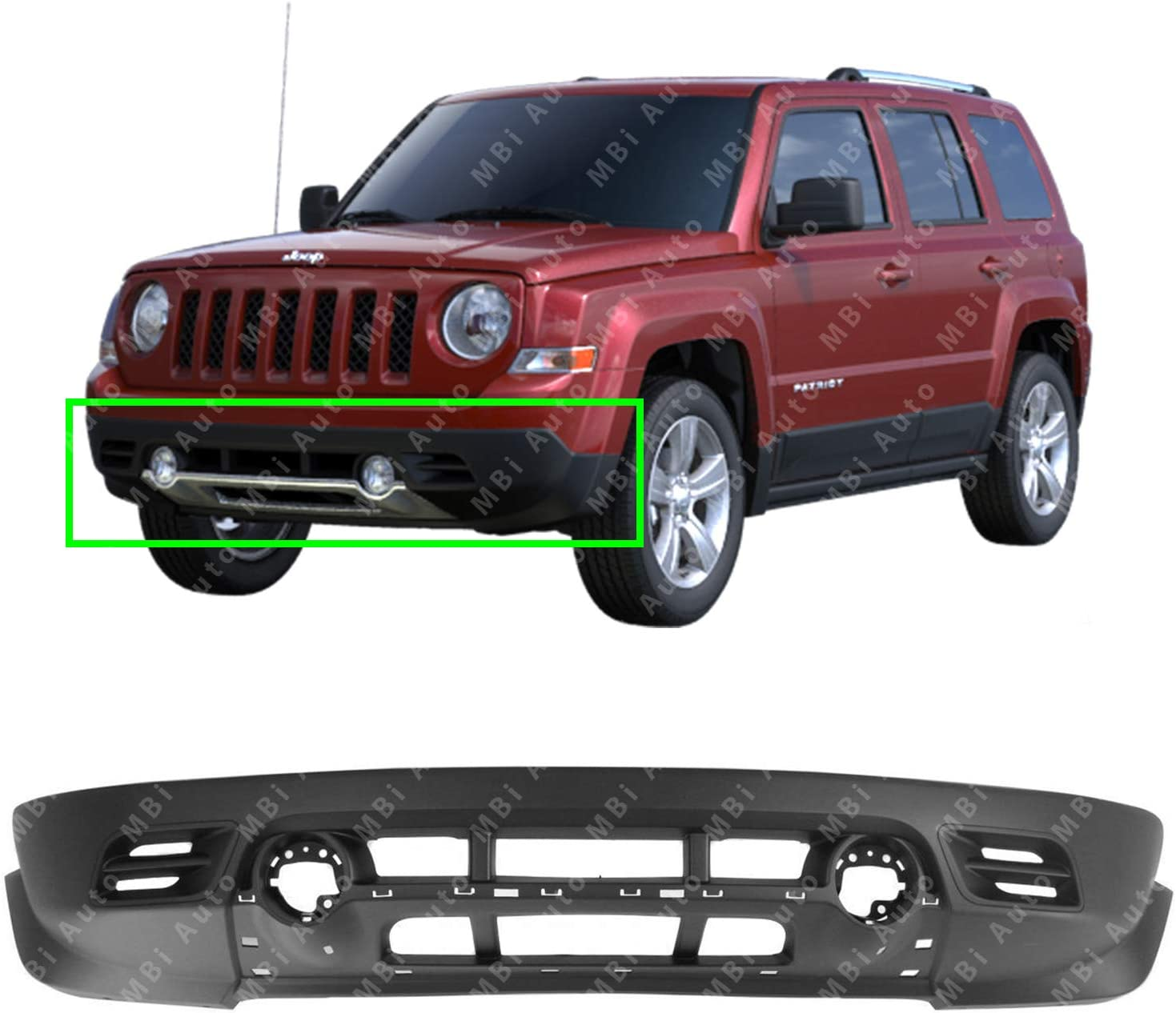 NEW FRONT LOWER BUMPER COVER FITS 2011-2017 JEEP PATRIOT CH1015111C CAPA