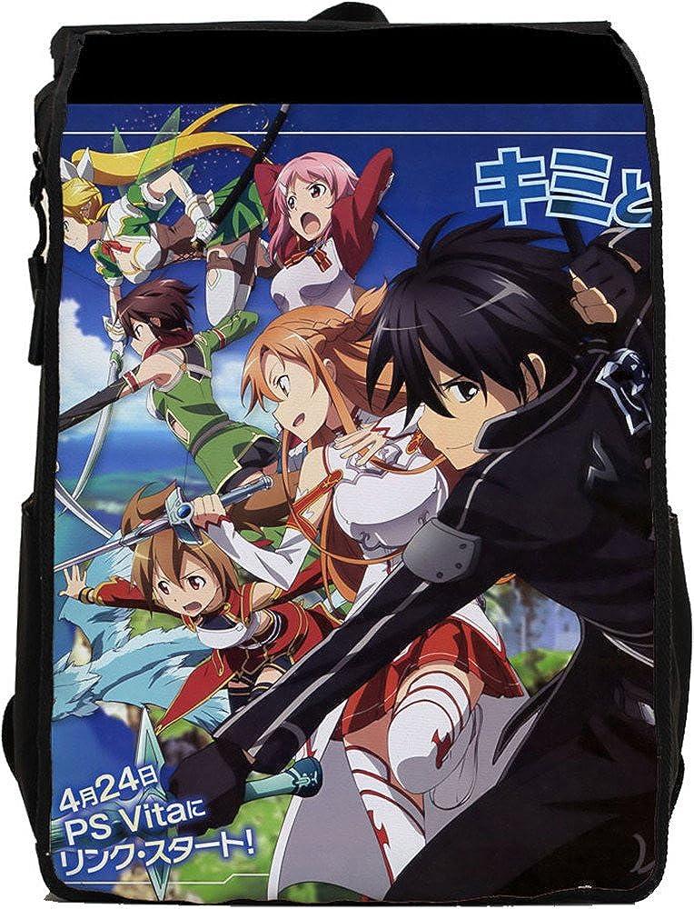 SiawaseyソードアートオンラインアニメKirigaya和人Kiritoコスプレキャンバスバックパックスクールバッグ   B015V2GYJ2