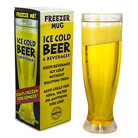 amazon com mug freezer 2 pack ice cold beer beverages 14 oz