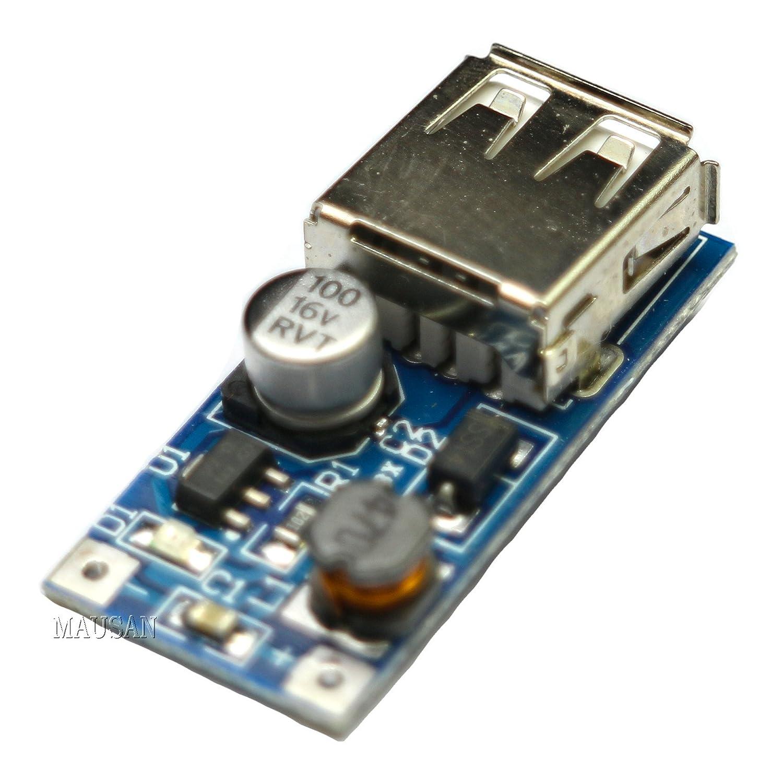 Partstower 5pcs DC-DC Booster Converter Module USB Mobile Power Supply Module 0.9V-5V to 5V 600MA Step Up Module Board DIY Partstower® RSN1866426