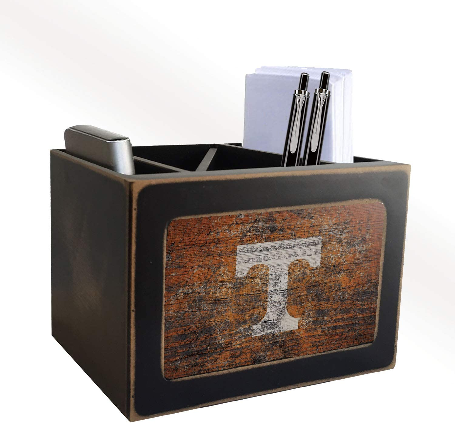 Fan Creations NCAA Tennessee Volunteers Distressed Team Logo Desktop Organizer with Color