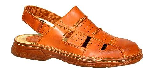 goditi la spedizione in omaggio piuttosto fico vendita a buon mercato nel Regno Unito Confortevoli Sandali Ortopedici Uomo in Vera Pelle di Bufalo Scarpe  Modello-838