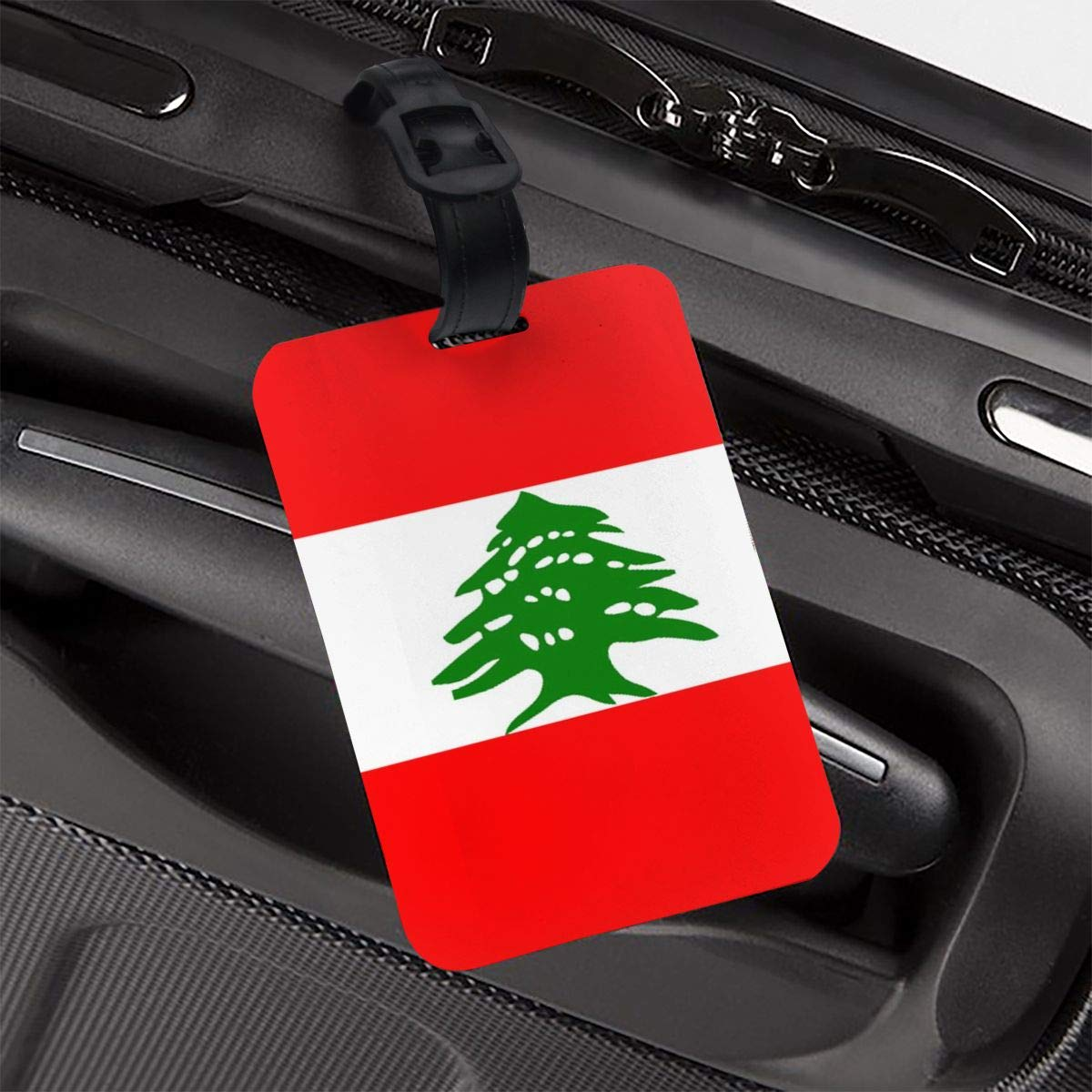 NB UUD Lebanese Flag Travel Luggage Tag Fashionable Employees Card Luggage Tag Holders Travel ID Identification Labels for Baggage Suitcases Bags