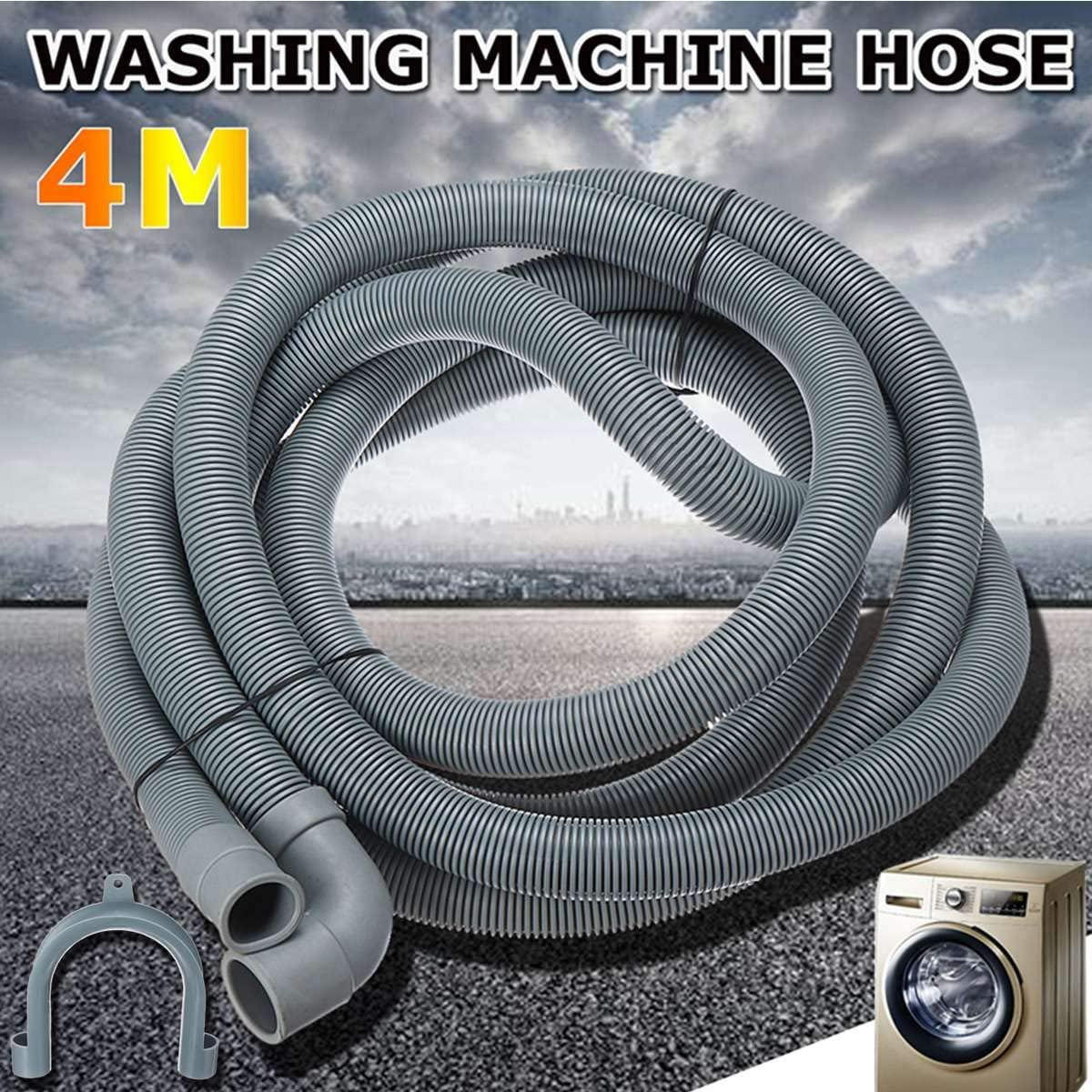 Leonid Wash Machine Dishwasher Drain Hose Outlet Water Pipe Flexible Extension With