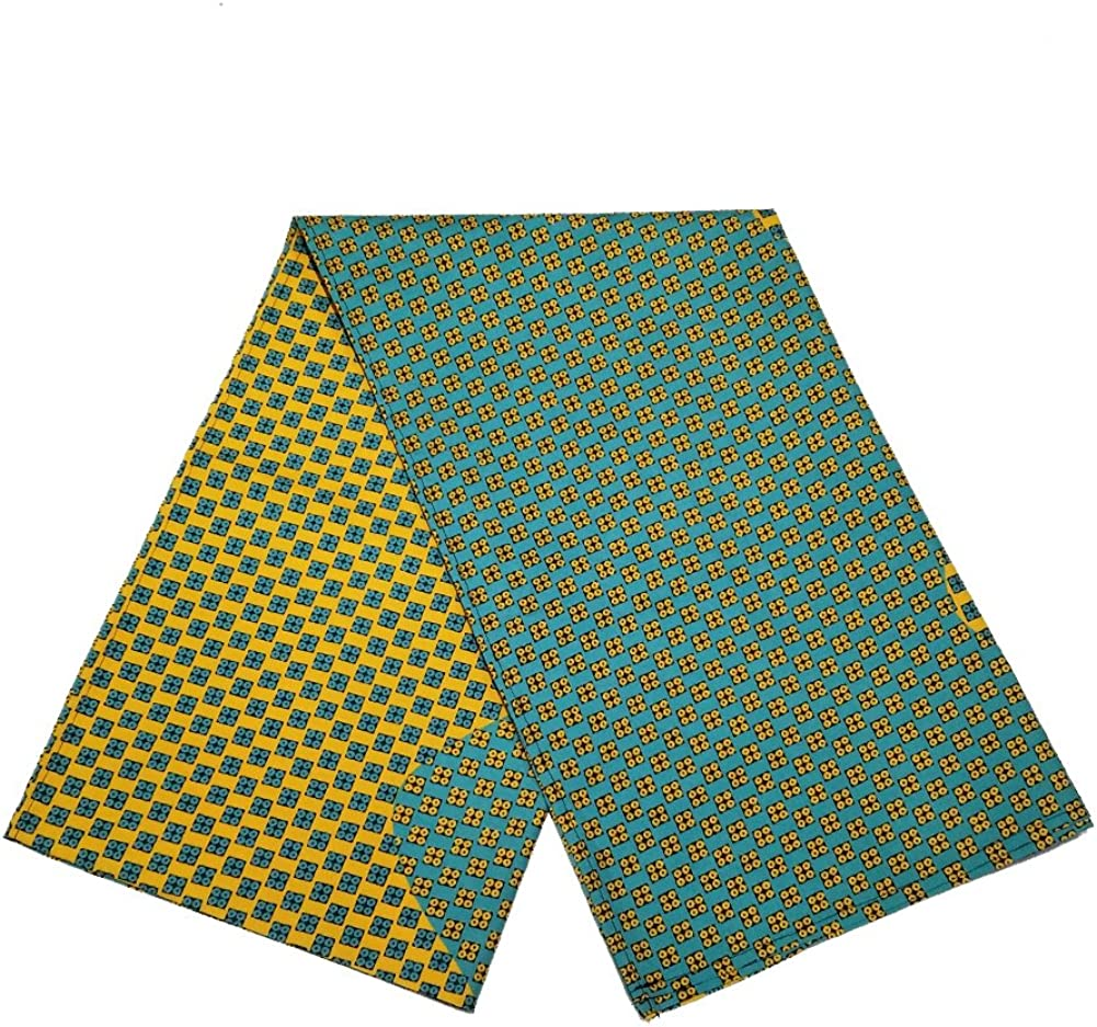 """African Print Head Wraps Extra Long 72/""""x22/"""" Head Scarf Tie for Women Soft Polyester Material"""