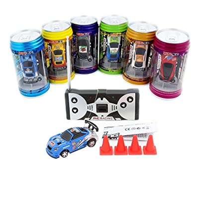 ZHMY Cans Type Mini RC car with 4pcs roadblocks,Color Random,Suitable for The Game (35Hz): Toys & Games