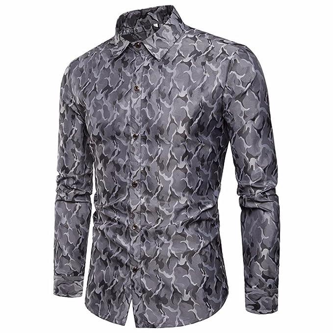 b151d0198a666 Camisas Estampadas Hombre Manga Larga AIMEE7 Camisas Hombre Silk Silk Camisas  Hombre Lisas Camisa De Manga Larga De Seda para Hombres  Amazon.es  Ropa y  ...