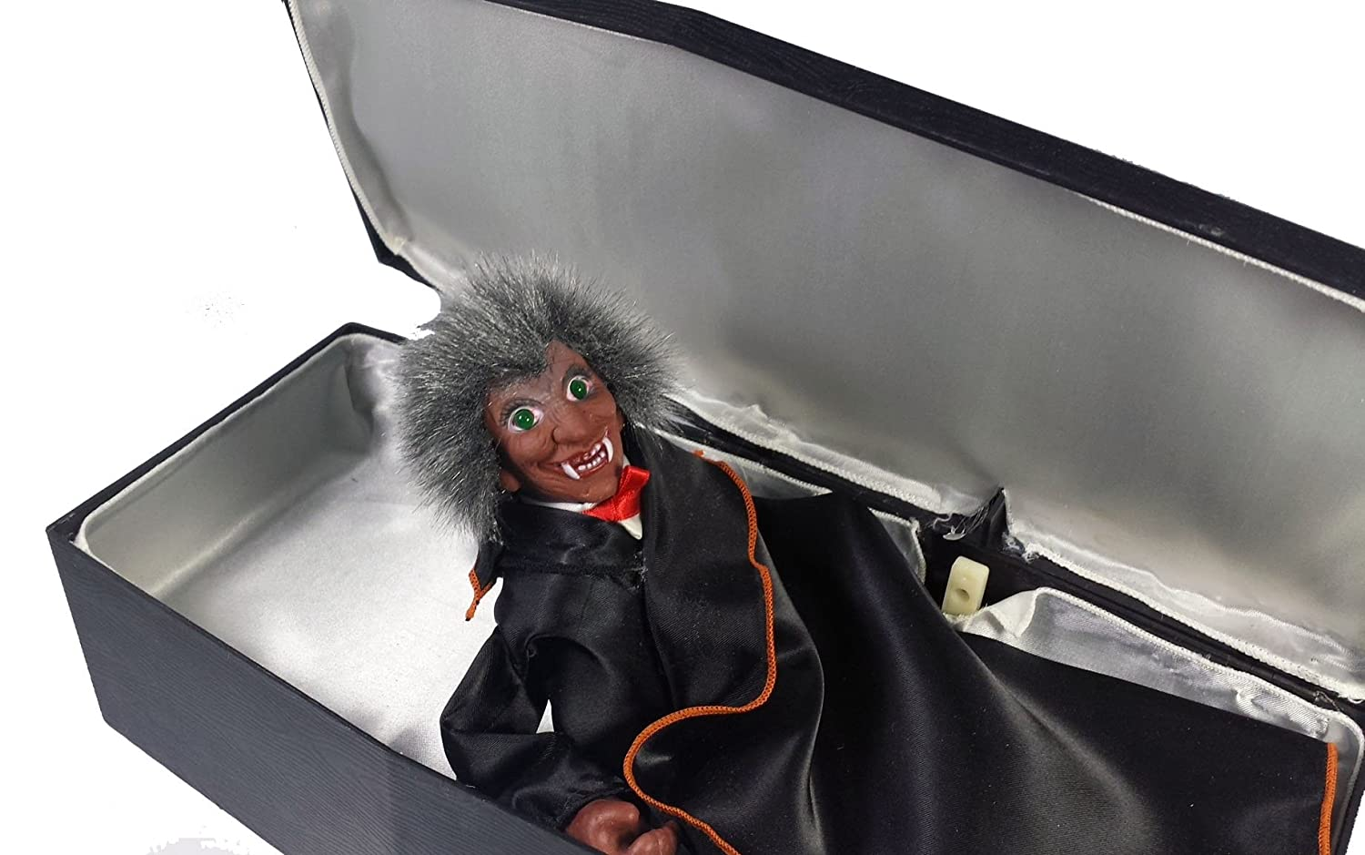 Spooky Coffin Vampire Battery Operated Halloween Prop