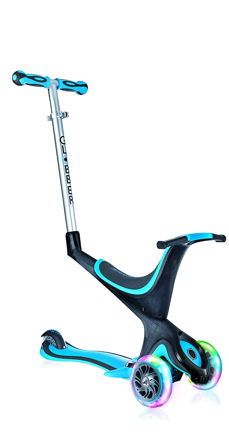 Amazon.com: Globber 3 Rueda 5-in-1 Convertible Scooter, Azul ...