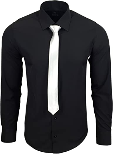 Rusty Neal R de 55 de KR Hombre Business Camisa con Corbata: Amazon.es: Ropa y accesorios