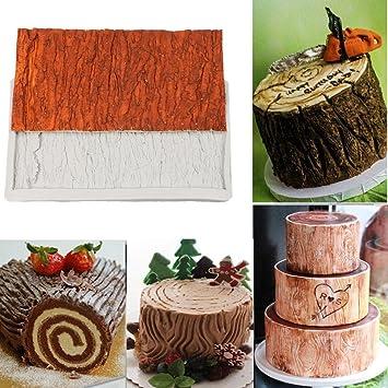 Jaminy - 1 molde de corteza de árbol 3D, para dulces, tartas, gelatina, decoración de bodas, color al azar: Amazon.es: Hogar