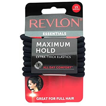 Amazon.com   Revlon Extra Thick Black Hair Elastics 7a341dc0868