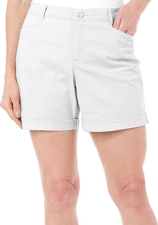 Midnight Affair Gloria Vanderbilt Women/'s Nimah Belted Shorts Size 16