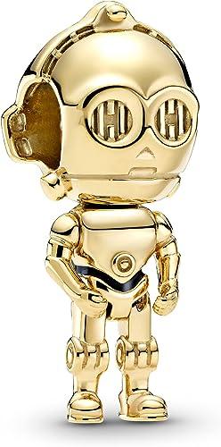 PANDORA Star Wars, C-3PO, Black Enamel Charm