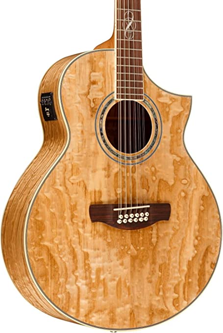 Ibanez Exotic Wood Series Ew2012asent 12 String Acoustic Electric Guitar Gloss Natural