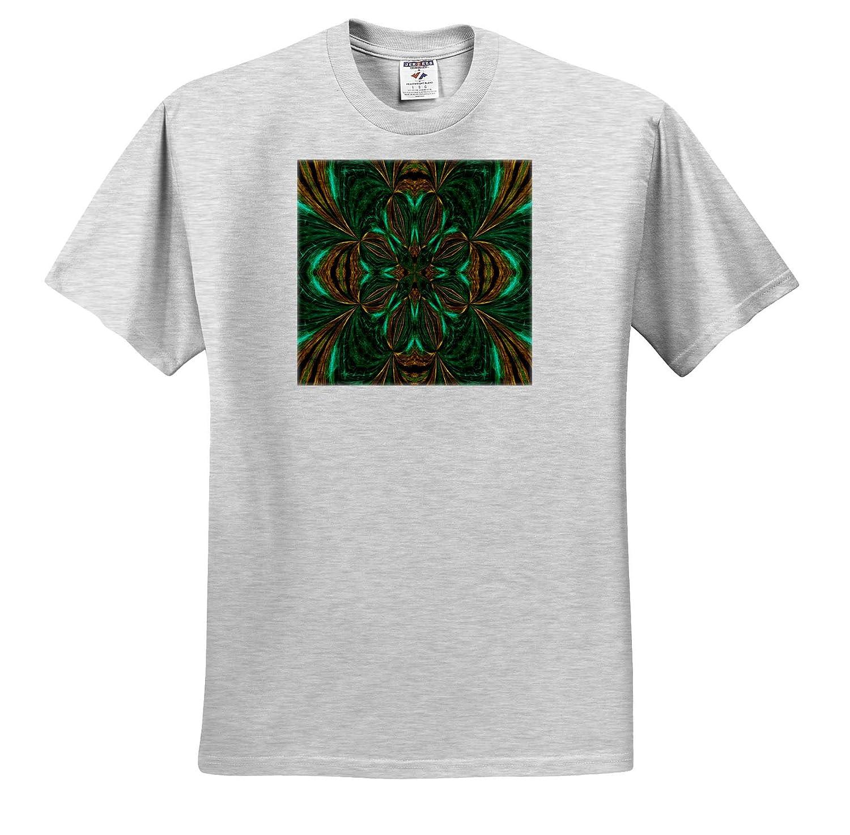 Design ts/_314252 Adult T-Shirt XL Emerald Green and Gold Dreamscapes Design 3 3dRose Dreamscapes by Leslie