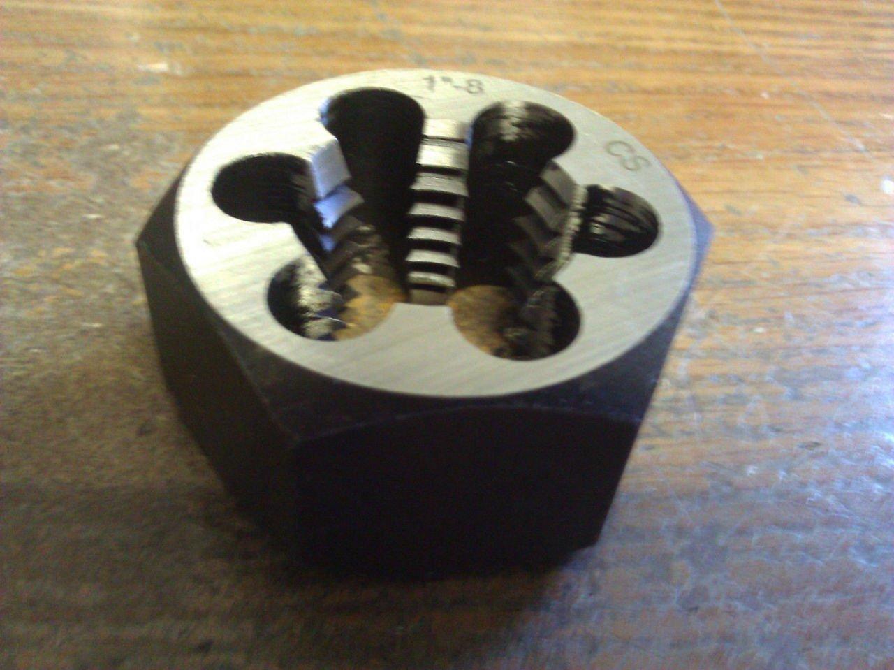 Carbon Steel 2-1//4-12-Hex Rethreading Die