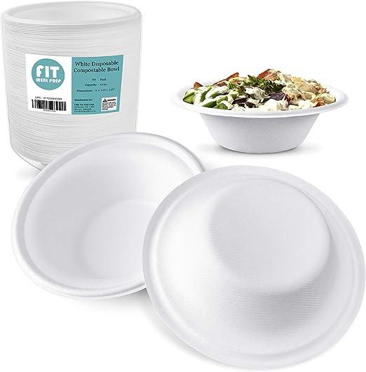 250 Pack 12 Oz Biodgradble Bowl Eco Friendly Sugarcane Bowls//Bagasse Safe for Hot and Cold Foods Disposable Composable Paper Bowls