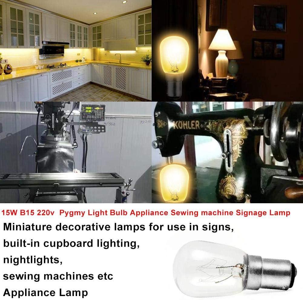 15 W B15 220 V máquina de coser bombilla piezas de la máquina de ...