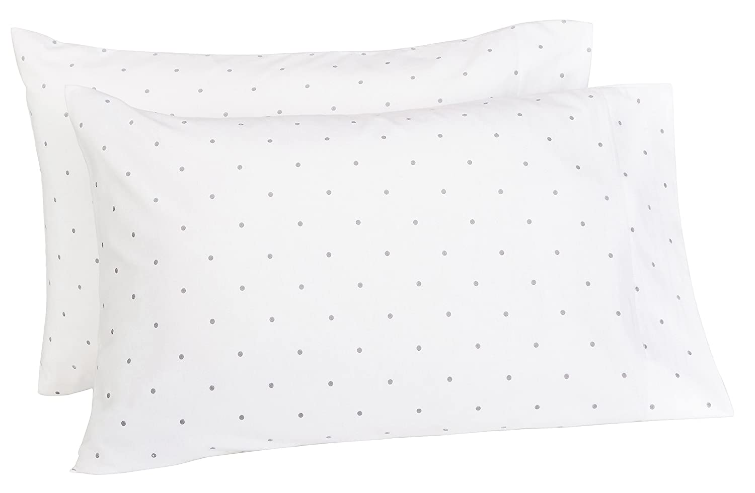 Pinzon 170 Gram Flannel Pillowcases - Standard, Grey Dot PZ-PFLAN-GD-SPC