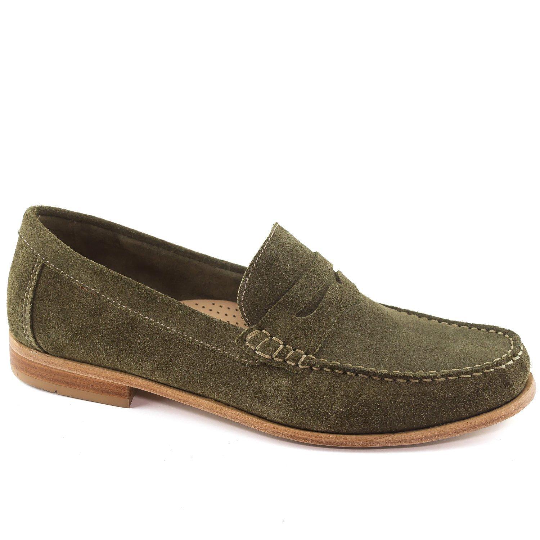 Olive Suede Driver Club USA Mens Mens Genuine Leather Made in Brazil Westport Loafer Loafer