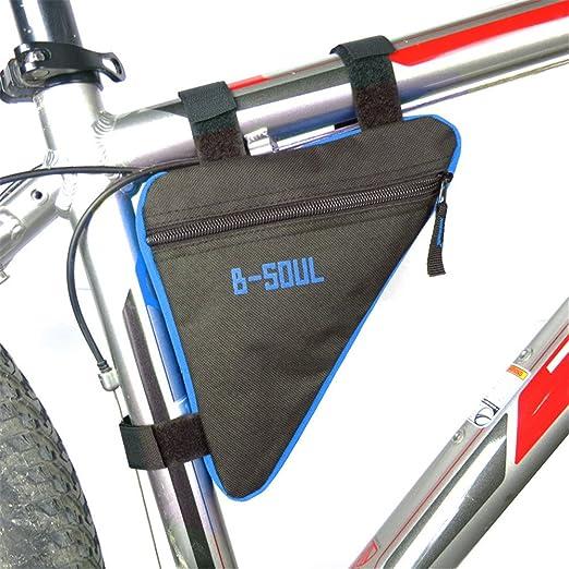 Xhtoe Portabicicletas Alforja for Bicicleta Deportiva Bolsa for Cuadro de Bicicleta, Accesorios for Ciclismo al Aire Libre Frente de Bicicleta Bolsa Marco de Ciclismo para teléfonos celulares: Amazon.es: Hogar
