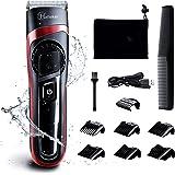 HATTEKER 電動バリカン ヘアカッター ヒゲトリマー USB充電式 アタッチメント付き 刈り高さ調節可 0.5-24mm対応 水洗い可 メンズ キッズカット ショートヘア 充電·交流式 業務用·家庭用·子供用