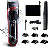 HATTEKER Hair Clippers for Men Cordless Hair Trimmer Professional Men's Beard Trimmer Waterproof Hair Cutting Kit with Fine A