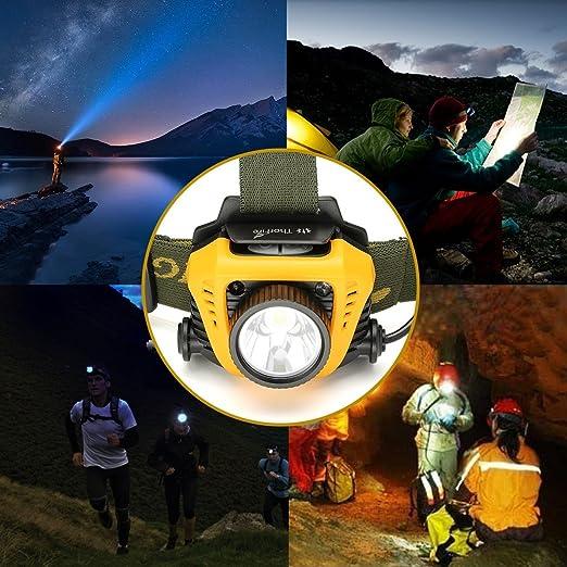 ThorFire Linterna Frontal, Lampara de Cabeza con LED, Linterna ...