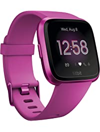Fitbit Fitbit Versa Lite Smartwatch, Mulberry/mulberry Aluminum, One Size (s & L Bands Included)