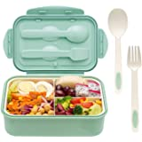 Bento Boxes for Adults - Bento Lunch Box For Kids Childrens With Spoon & Fork - Durable, Leak-Proof for On-the-Go Meal, BPA-Free and Food-Safe Materials