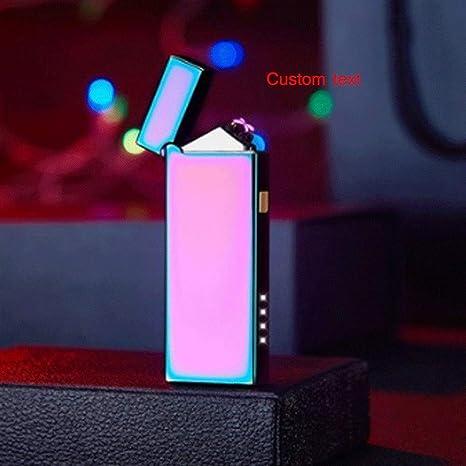 Zenghh Texto personalizado Carga USB Encendedor Inducción de ...