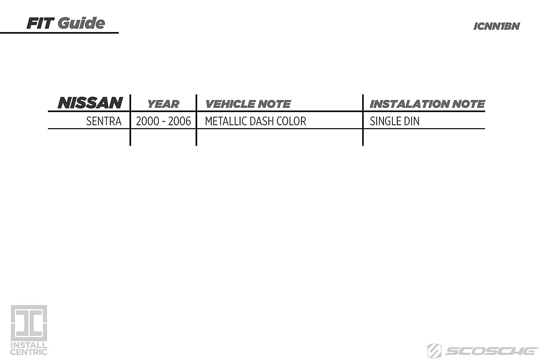 Install Centric ICNN1BN Nissan Sentra 2000-06 ISO Din Complete Installation Kit Metallic Gray SCOSCHE