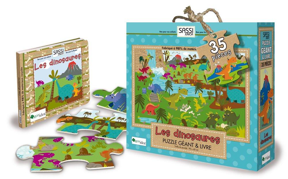 Les Dinosaures Puzzle Geant Livre 9788896045763 Amazon