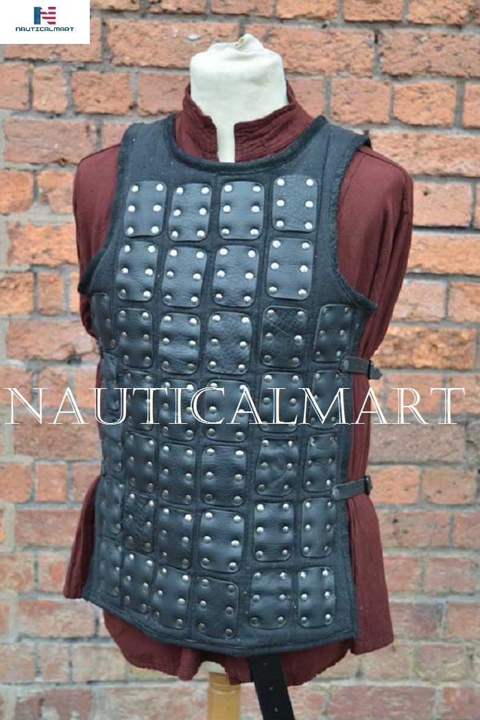 NAUTICALMART Luke Brigandine Armor - Black - Small - LARP by NAUTICALMART