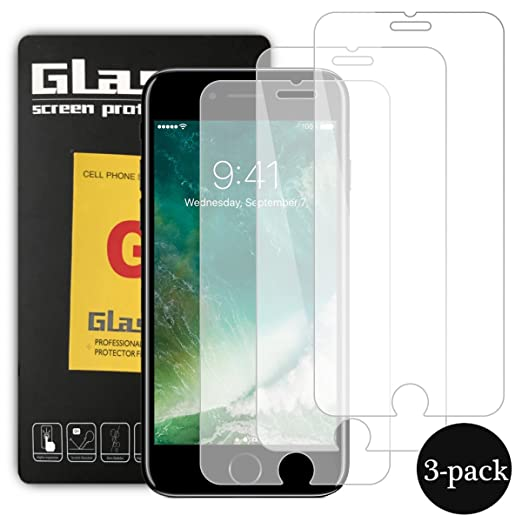 33 opinioni per Pellicola Vetro Temperato iPhone 7 Plus, Hanbee [3 Pack] Pellicola Protettiva in