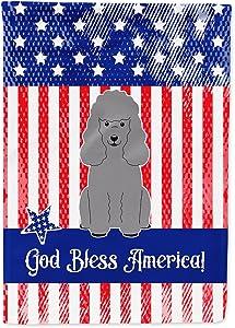Caroline's Treasures BB3063GF Patriotic USA Poodle Silver Flag Garden Size, Small, Multicolor