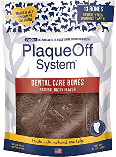dcea885ae8f8 ProDen Plaque Off Dental Care Dog Treat Bones Bacon
